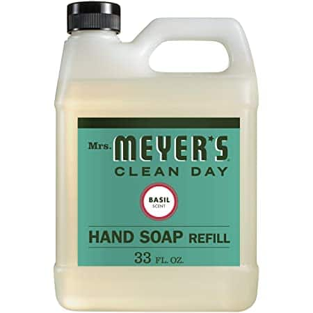 33-Oz Mrs. Meyer's Clean Day Liquid Hand Soap Refill (Basil) $4.89 w/ S&S + Free Shipping w/ Prime or on $25+