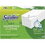52-Count Swiffer Sweeper Dry Mop Sweeping Refill Pads $8.40 w/ Subscribe & Save