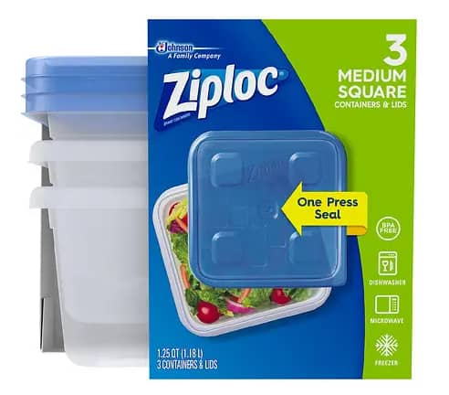 3-Ct Ziploc Containers 2 for $2.22 ($1.11 each) + free ship to store pickup at Walgreens