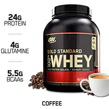 5-lbs Optimum Nutrition 100% Whey Protein (Coffee) $31.40 w/ S&S + Free S/H