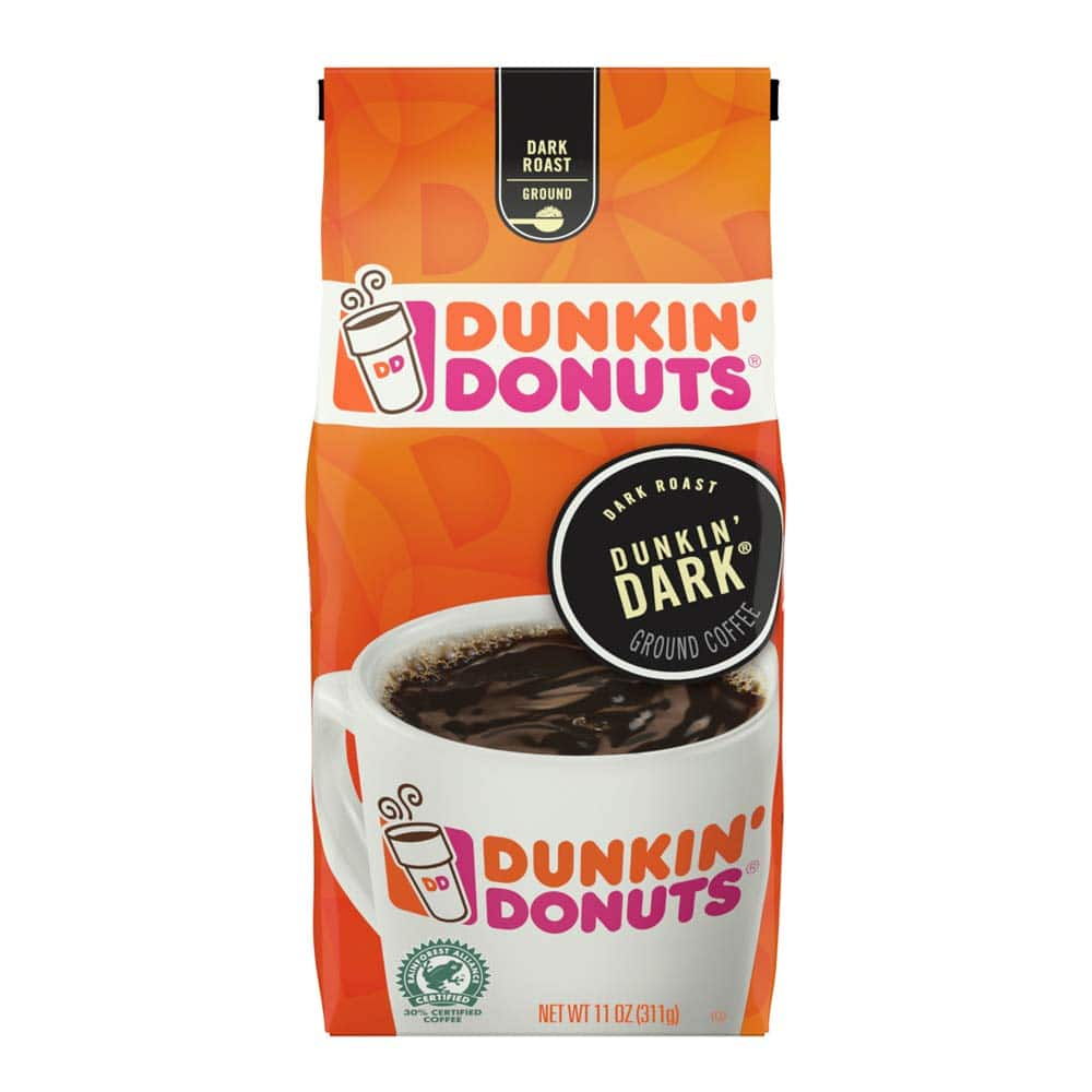 11oz. Dunkin' Donuts Ground Coffee (various flavors) $3.30 w/ S&S + Free S&H