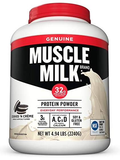 4.94-lbs Muscle Milk Genuine Protein Powder (Cookies 'N Crème) $29.90 + free shipping