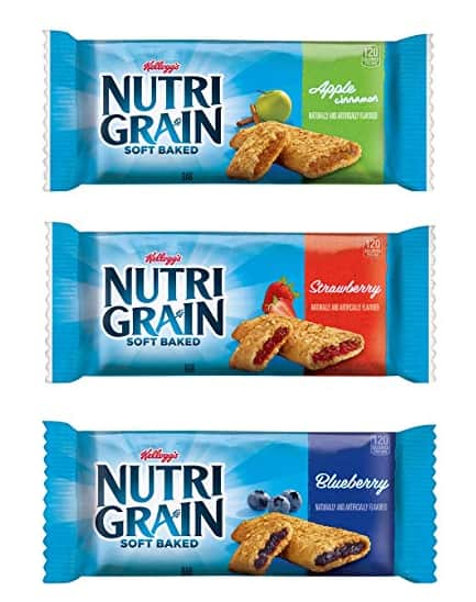 *Back in stock* 48-Count 1.3oz Kellogg's Nutri-Grain Cereal Bars (assorted pack) $7.87 w/ S&S + Free S&H
