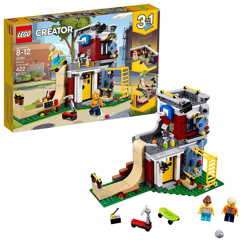 LEGO Creator 3in1 Modular Skate House Building Kit (31081) $24 +free S/H w/ Prime