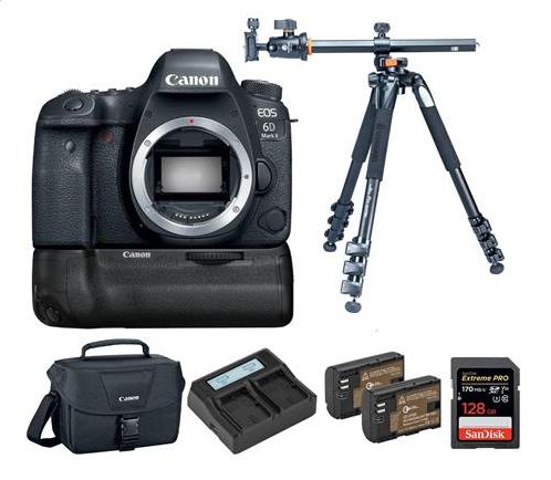 Canon EOS 6D Mark II DSLR Body + BG-E21 Battery Grip + Alta Pro 264AT Tripod $1199