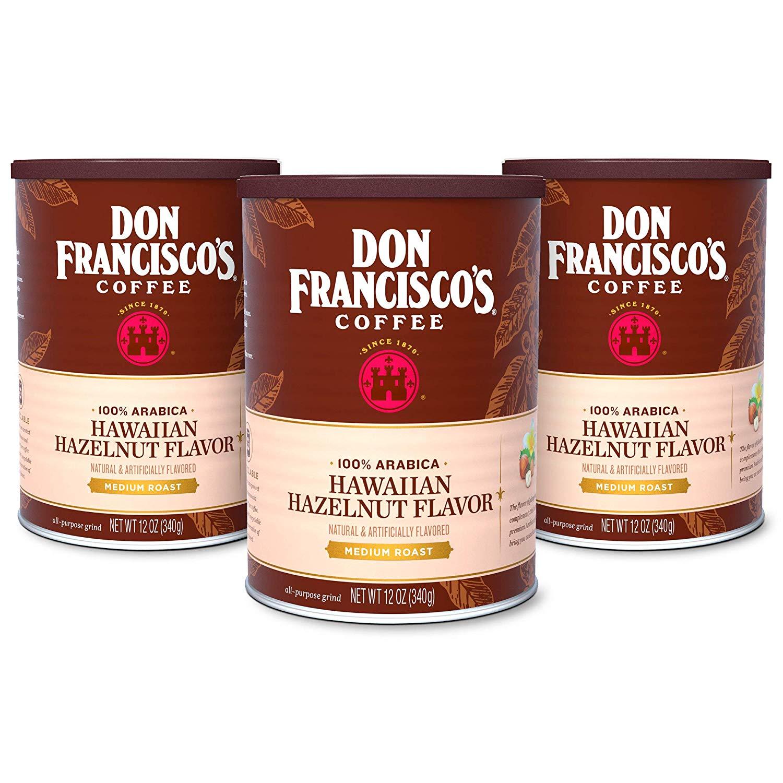 3-Pack 12oz. Don Francisco's Ground Coffee (Hawaiian Hazelnut) $10.60 w/ S&S + Free S/H