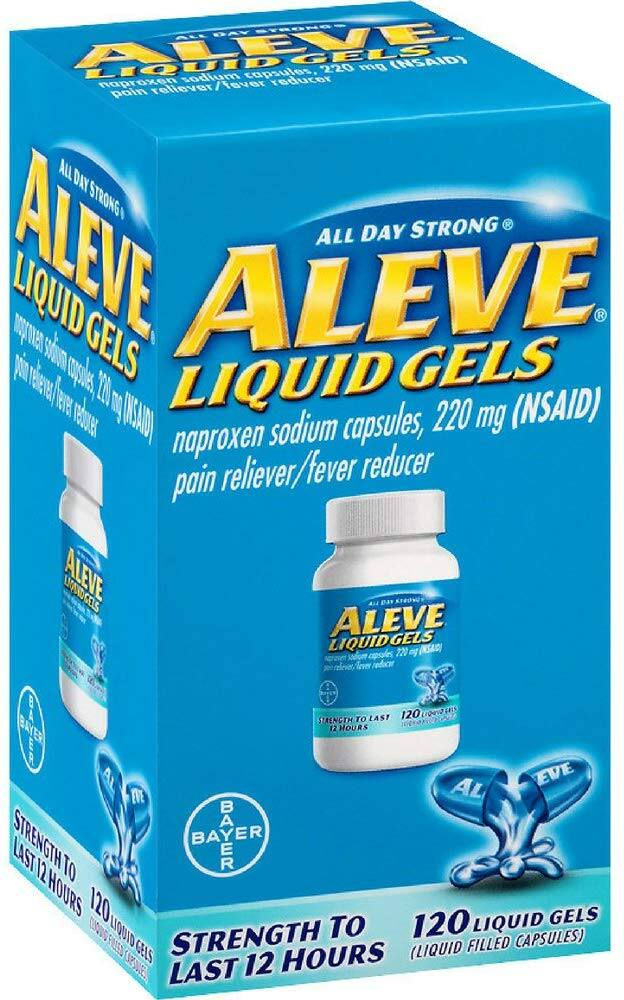 120-Count Aleve Pain Reliever Liquid Gels (NSAID 200mg) $9.53 w/ S&S & More + Free S&H