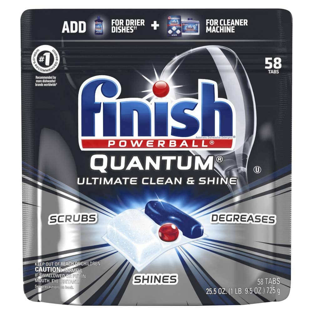 58-Ct Finish Powerball Quantum Dishwasher Detergent Tabs $8.90 w/ S&S + Free S&H