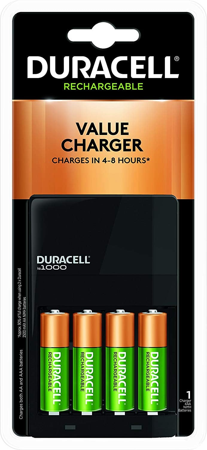 4-Count Duracell AA NiMH Batteries w/ Ion Speed 1000 NiMH Charger $8.32 w/ S&S + Free S&H