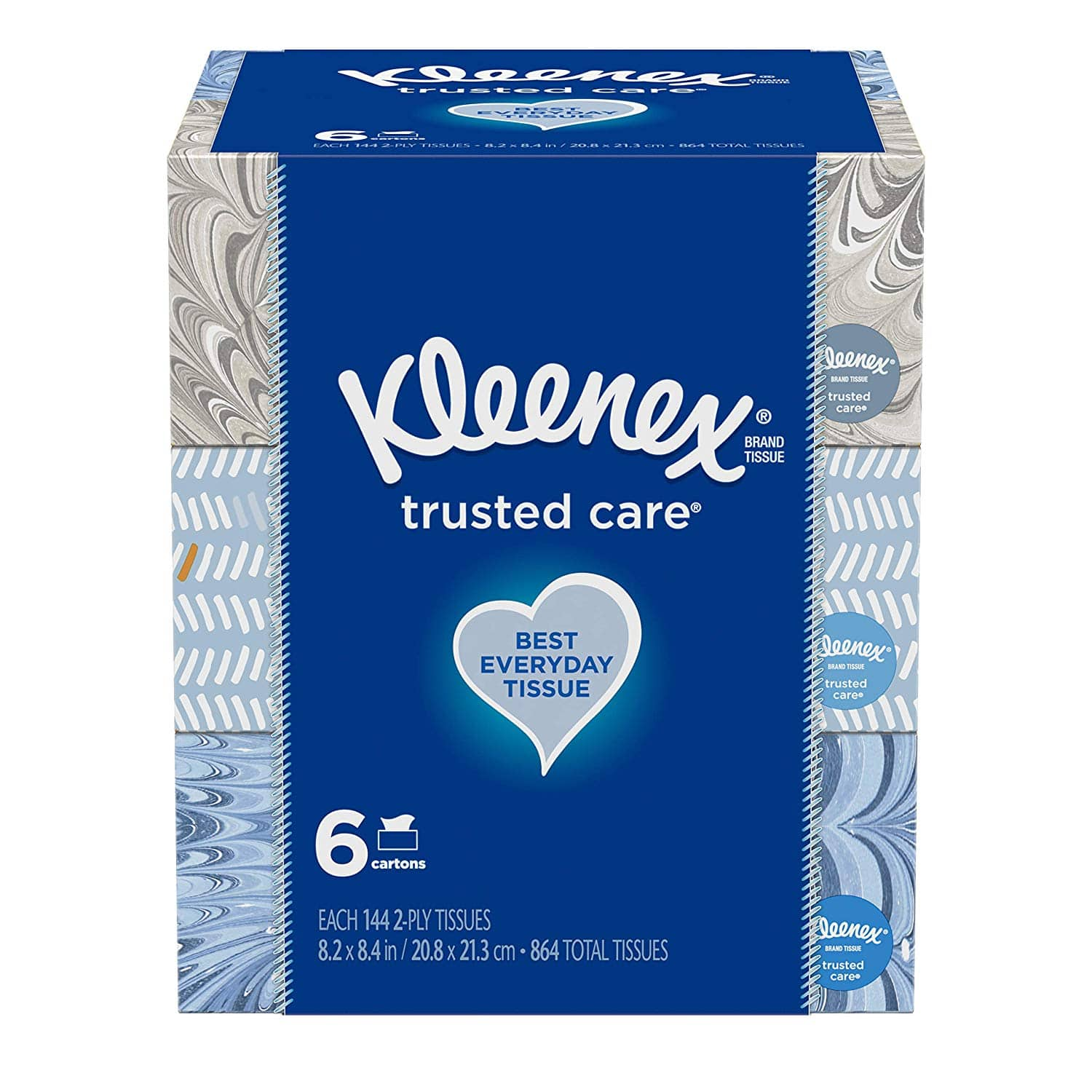 18-Pack 144-Count Kleenex Trusted Care Everyday Facial Tissues $14.18 ($0.79 each) w/ S&S + Free S&H