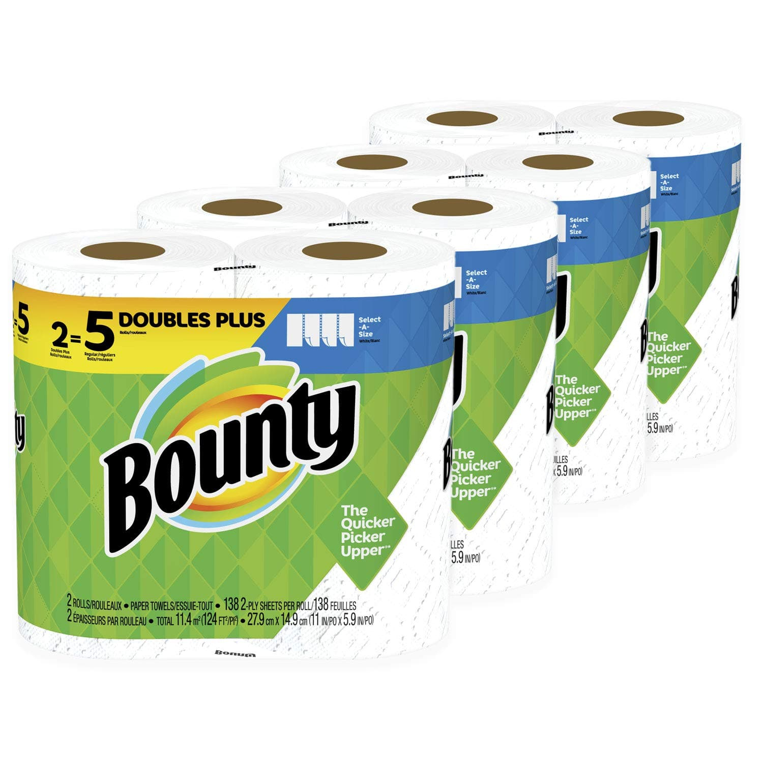 24-Count Bounty Select-A-Size Doubles Plus Rolls Paper Towels