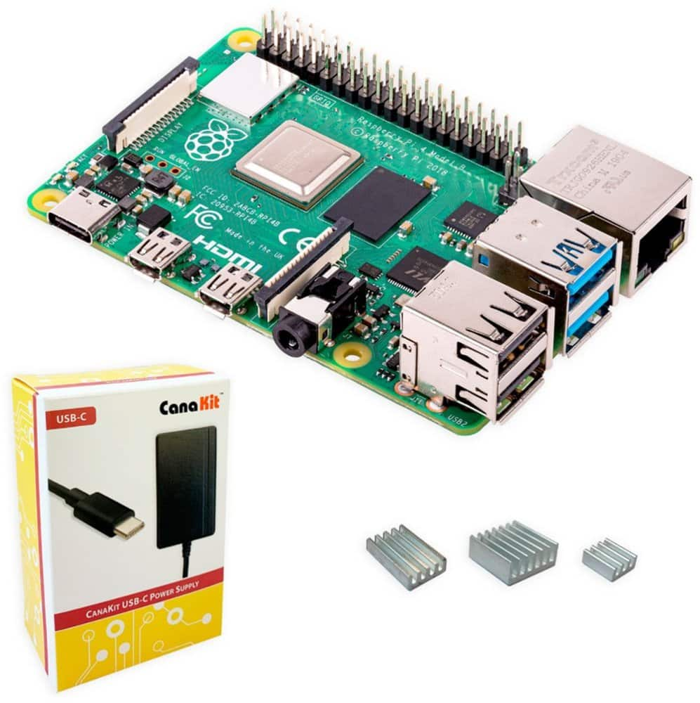 Raspberry Pi 4 2GB with CanaKit Power Supply $49.99 + Free Shipping
