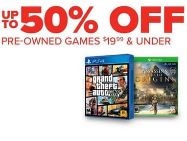 Gamestop Pre Owned Games 20 Or Less 20 Off 2 30 Off 3 40