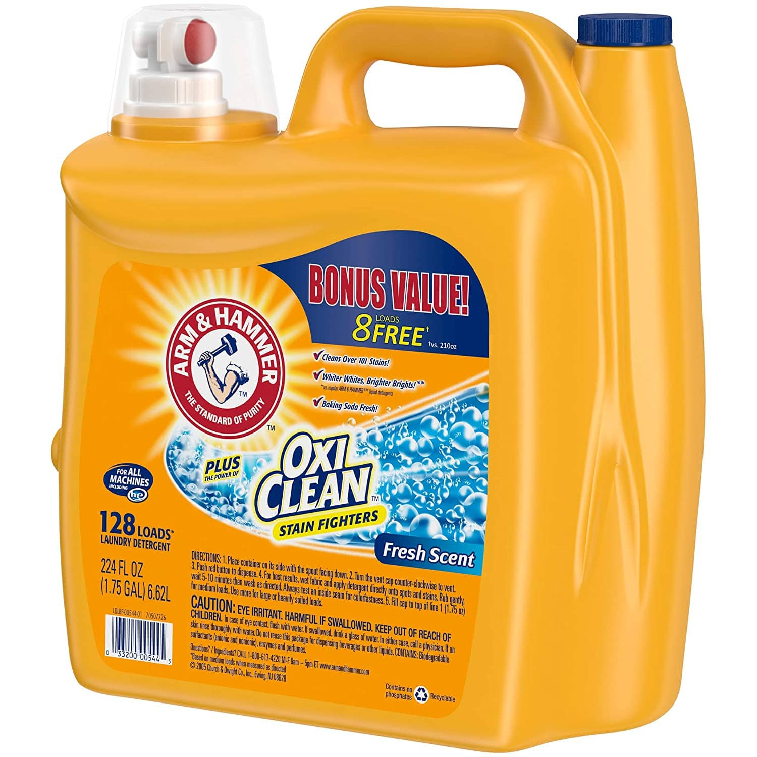 224-Oz Arm & Hammer Laundry Detergent Plus Oxiclean 3 for $25.91 ($8.64 each) + Free Shipping