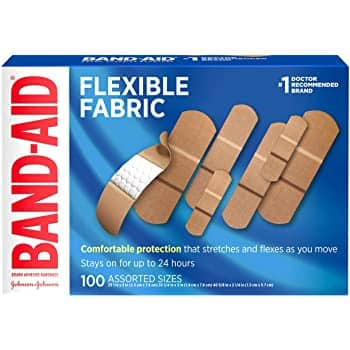 100-Ct Band-Aid Flexible Fabric Adhesive Bandages (Assorted Sizes) 2 for $9.63 w/ S&S & More + Free S&H w/ Prime or $25+ (or Free Store Pickup via Walgreens)