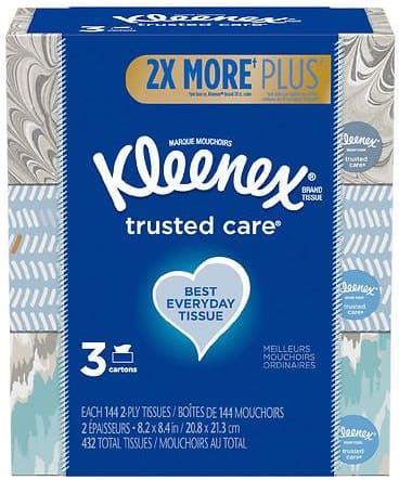 6-Pack 144-Ct Kleenex Trusted Care Facial Tissues $6 + Free Shipping