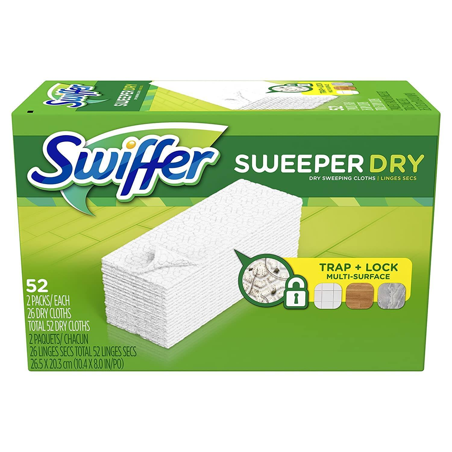 52-Count Swiffer Sweeper Dry Mop Sweeping Refill Pads 3 for $25.91 ($8.64 each) + Free Shiping & More