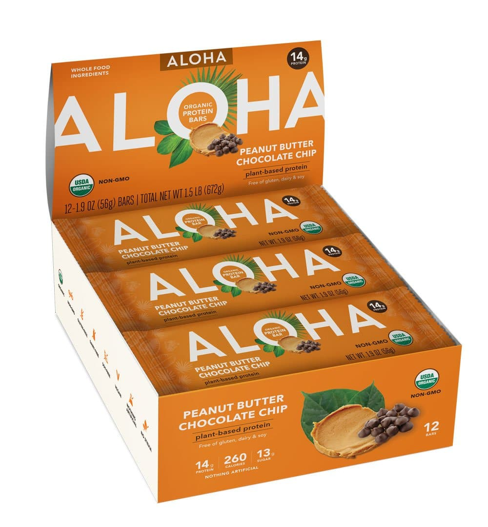 12-Count 1.9-Oz ALOHA Organic Plant Based Protein Bars $14.65 w/ S&S + Free Shipping w/ Prime or $25+