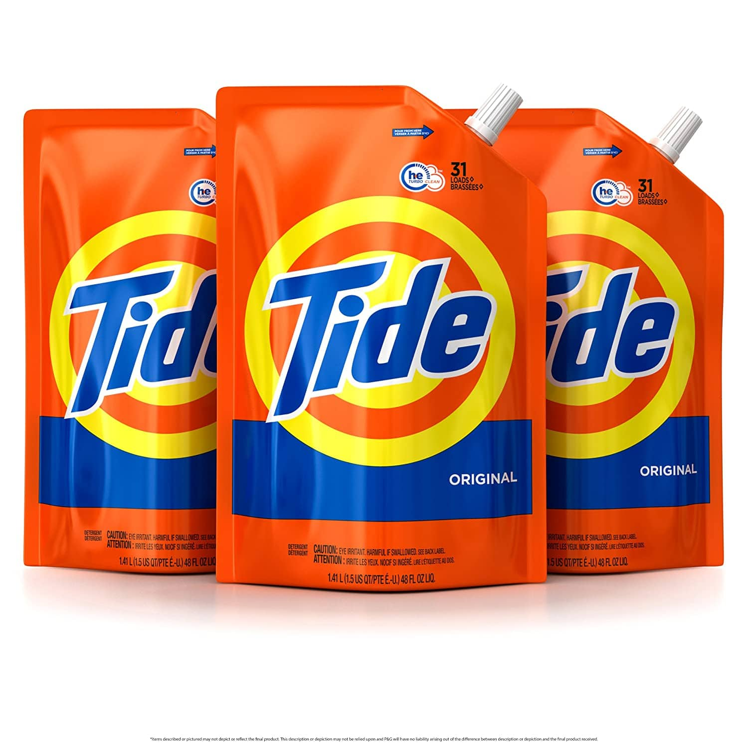 9-Pack 48-Oz Tide HE Laundry Detergent Pouches (Original) $39 ($4.33 each) + Free Shipping