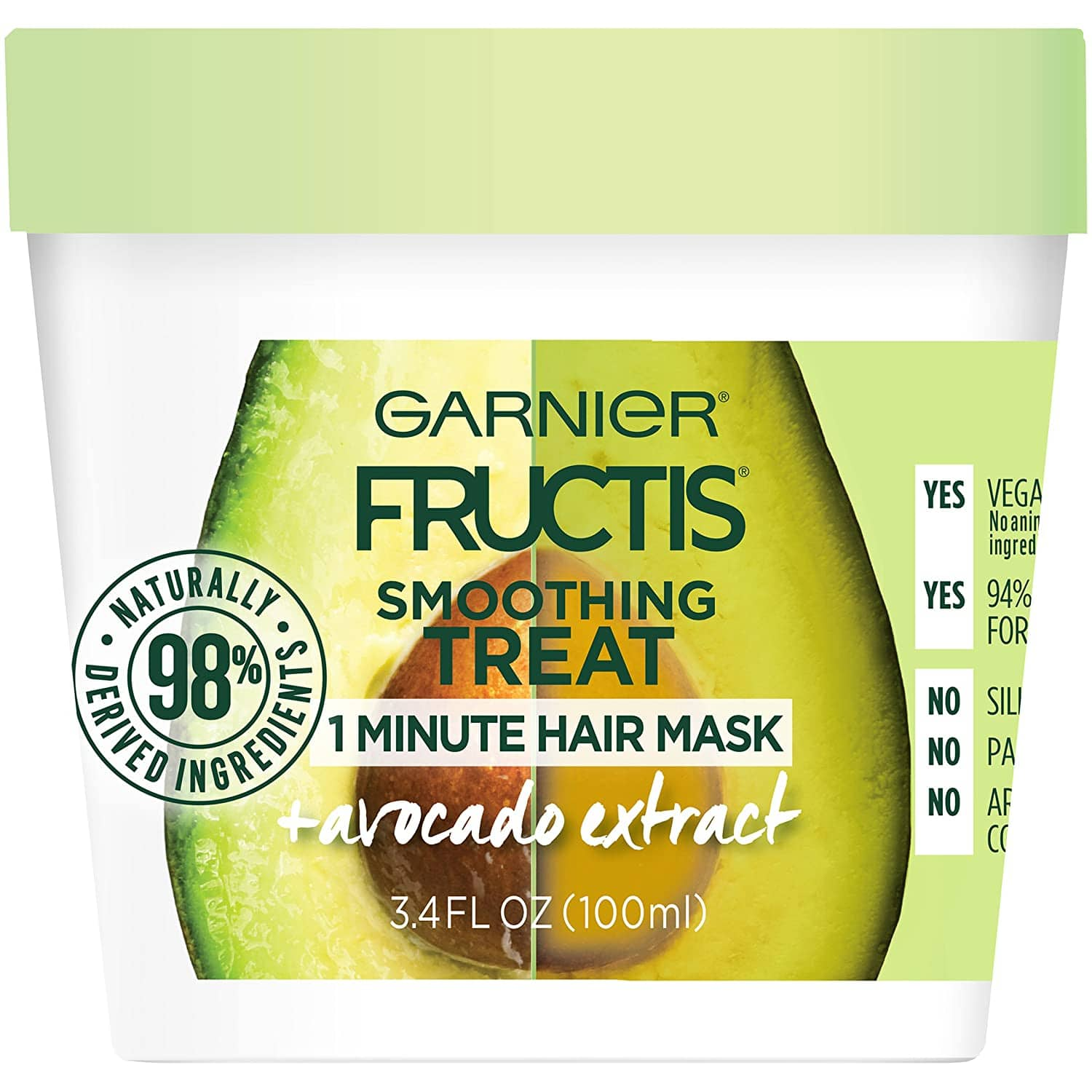 3.4-Oz Garnier Fructis Smoothing Treat 1 Minute Hair Mask w/ Avocado Extract $0.85 w/ S&S + Free Shipping w/ Prime or on $25+