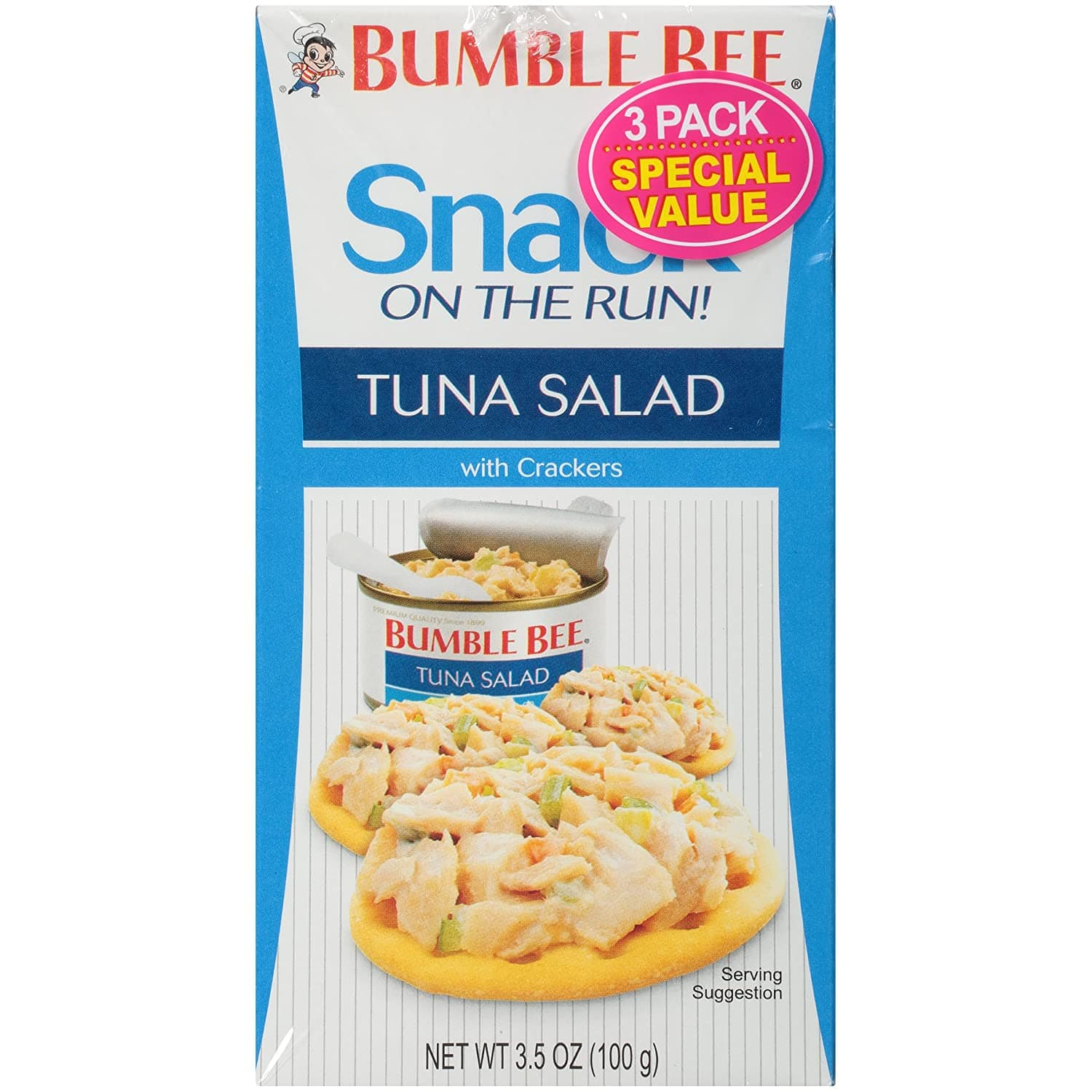3-Pack 3.4-Oz Bumble Bee Snack On The Run! Tuna Salad with Crackers $2.52 w/ S&S + Free Shipping w/ Prime or on $25+