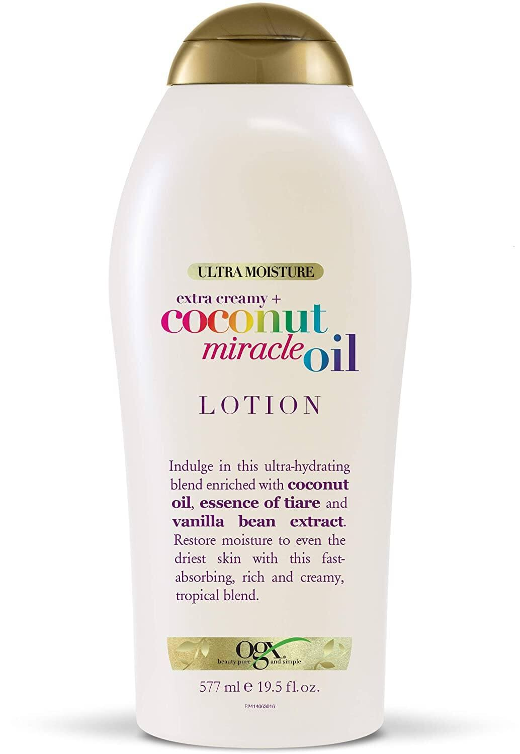 19.5-Oz OGX Extra Creamy + Coconut Miracle Oil Ultra Moisture Lotion $3.33 w/ S&S + Free Shipping w/ Prime or on $25+
