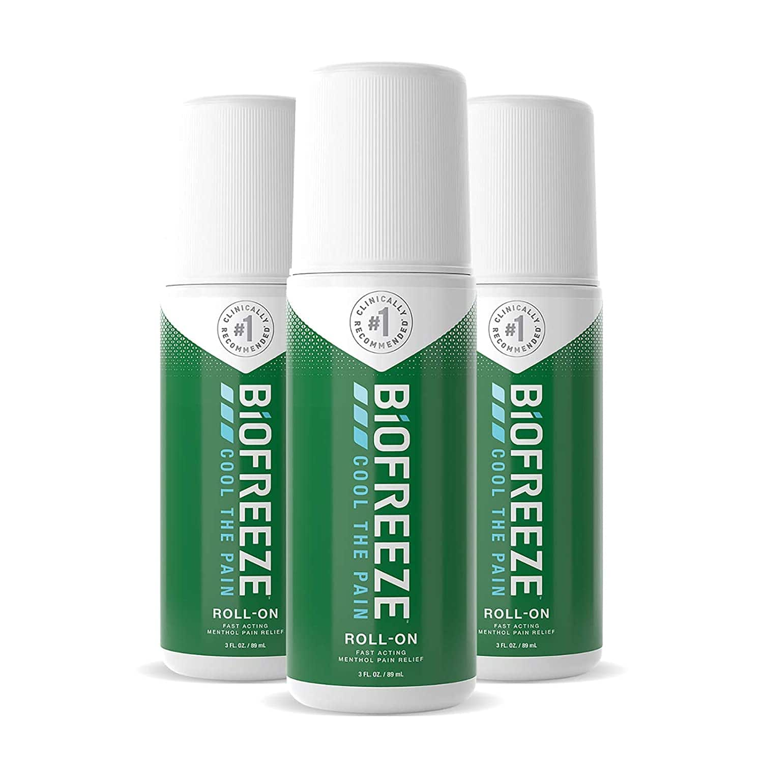 3-Pack 3-Oz Biofreeze Pain Relief Roll-On $14.31 & More + Free Shipping w/ Prime or on $25+