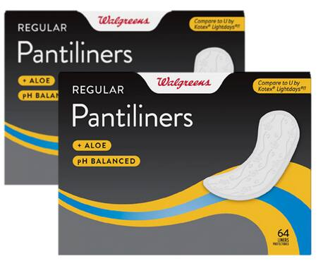 64-Count Walgreens Unscented Pantiliners 2 for $0.73 ($0.37 each) & More + Free Store Pickup at Walgreens