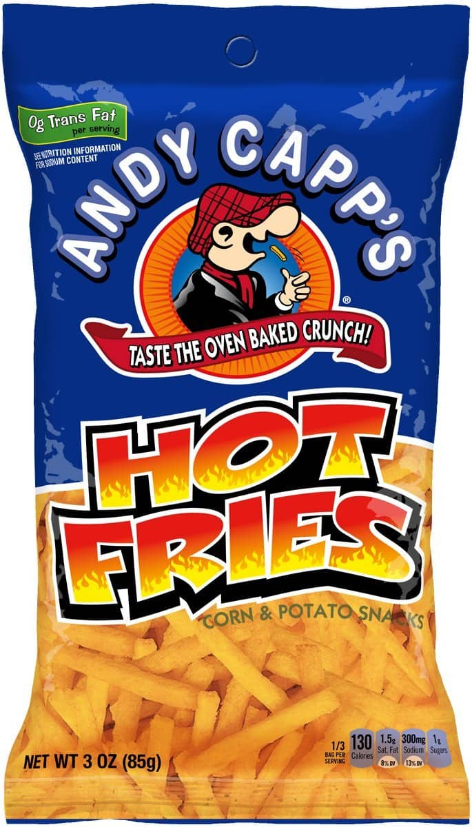 7-Pack 3-Oz Andy Capp's Hot Fries $4.85 w/ S&S + Free Shipping w/ Prime or on $25+