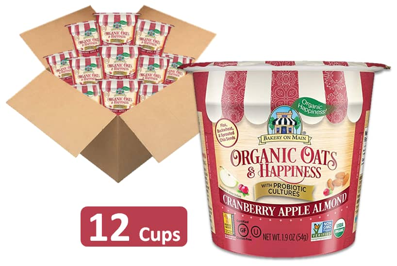 12-Count 1.9-Oz  Bakery on Main Gluten Free Oatmeal Cup (Cranberry Apple Almond) $5.83 w/ S&S + Free Shipping w/ Prime or $25+