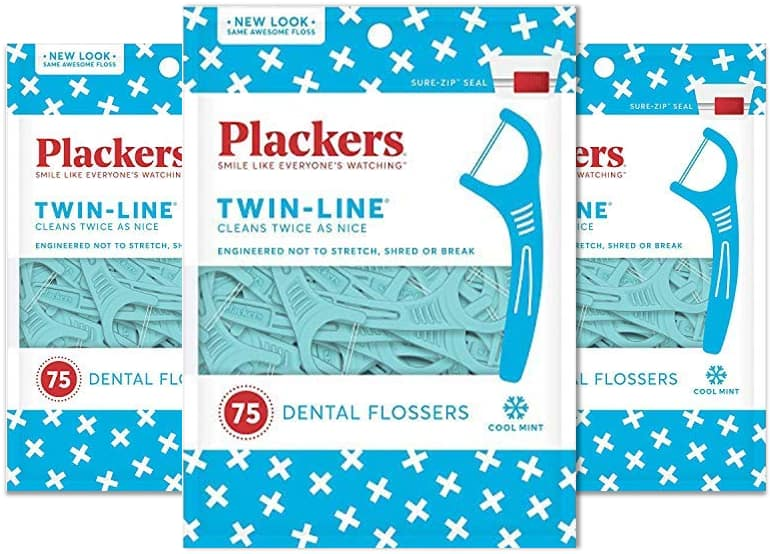 75-Ct Plackers Twin-Line Dental Floss Picks 3 for 5.53 (1.85 each) w/ S&S & More + Free S&H w/ Prime or $25+ (Select accounts: $3 Digital Credit w/ No-Rush Shipping)
