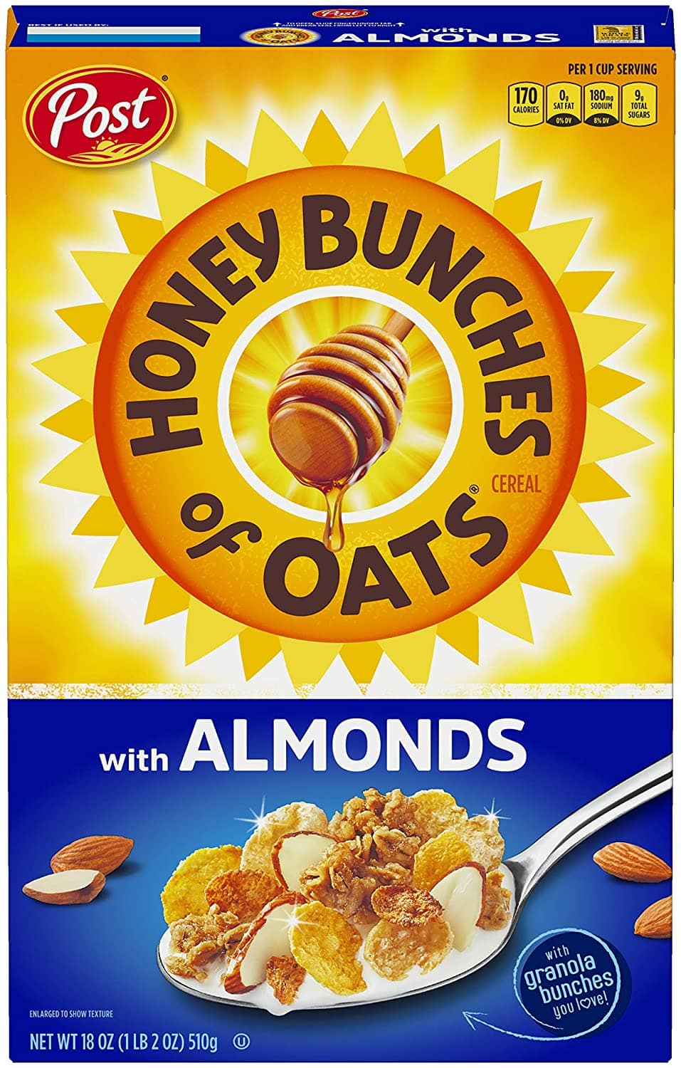 18-Oz Post Honey Bunches of Oats w/ Crunchy Honey Roasted Cereal $2.36 w/ S&S + Free S&H w/ Prime or $25+ (Select accounts: 2 for $4.72 + $2 Digital Credit w/ No-Rush Shipping)
