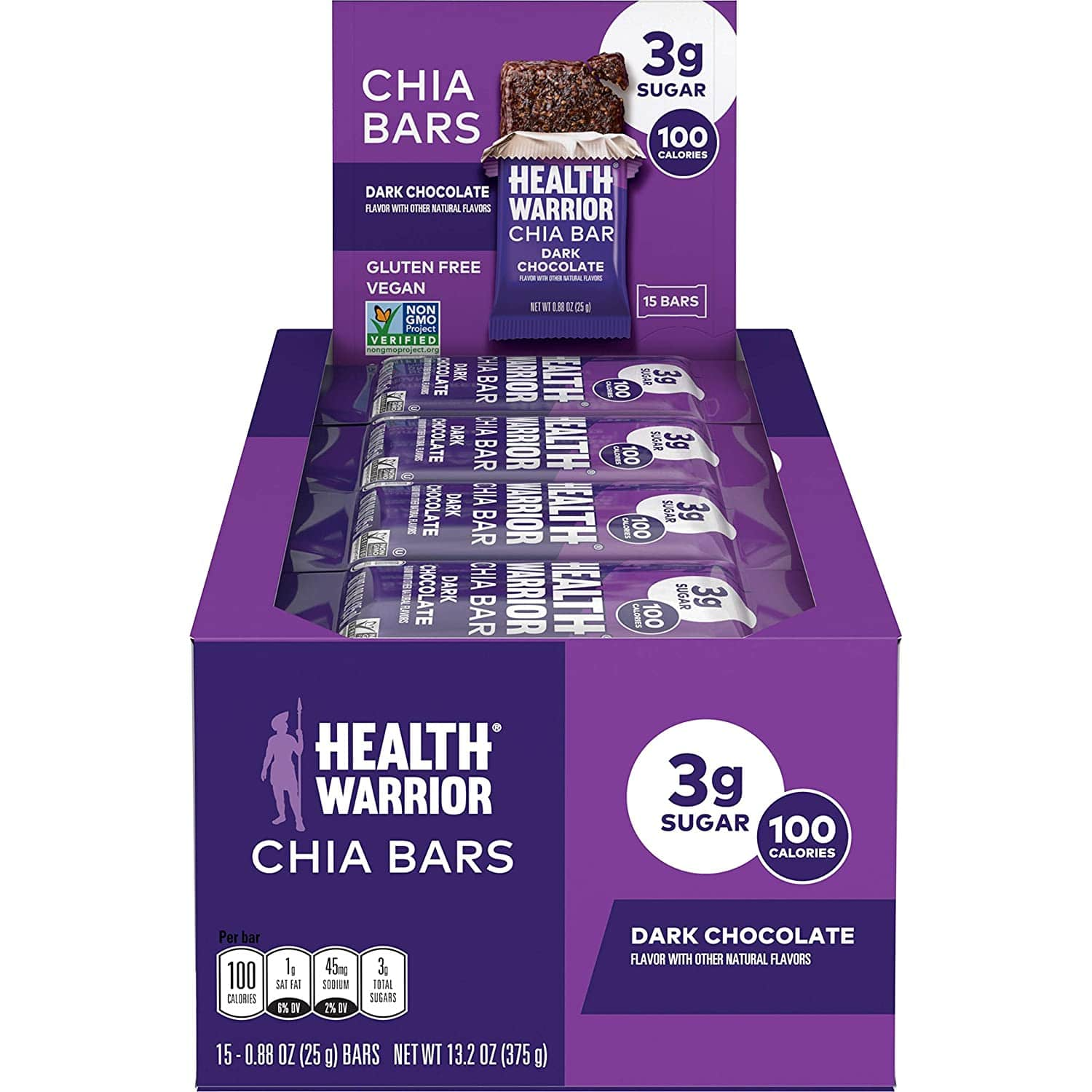 15-Count Health Warrior Chia Bars (Dark Chocolate) $8.23 w/ S&S + Free Shipping w/ Prime or on $25+