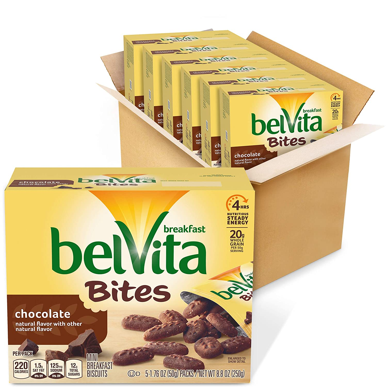 6-Pack 5-Count belVita Mini Breakfast Biscuits Bites (Chocolate) $7.86 w/ S&S + Free Shipping w/ Prime or on $25+