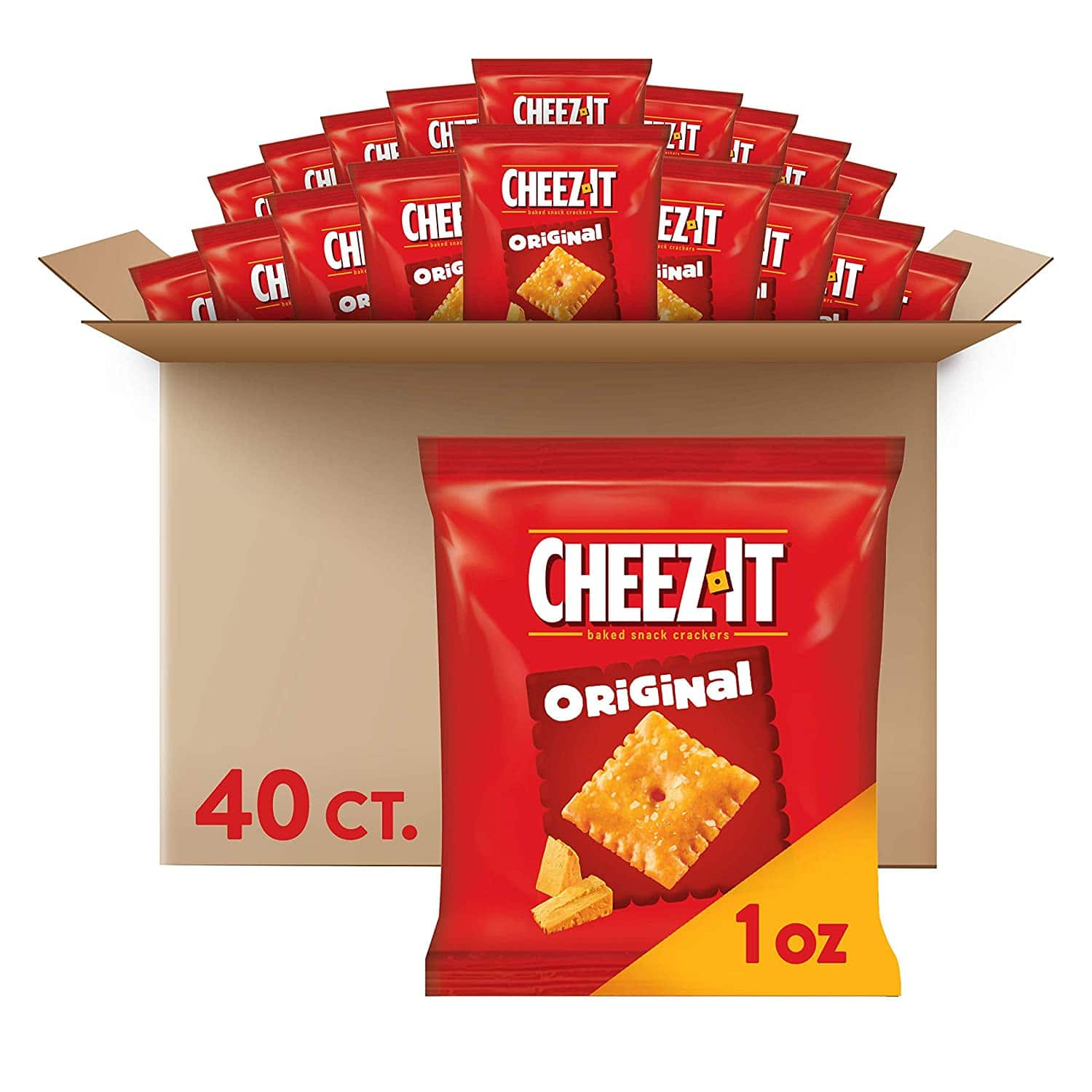 40-Count 1oz Cheez-It Baked Snack Cheese Crackers (Original) $8.53 w/ S&S + Free Shipping w/ Prime or $25+