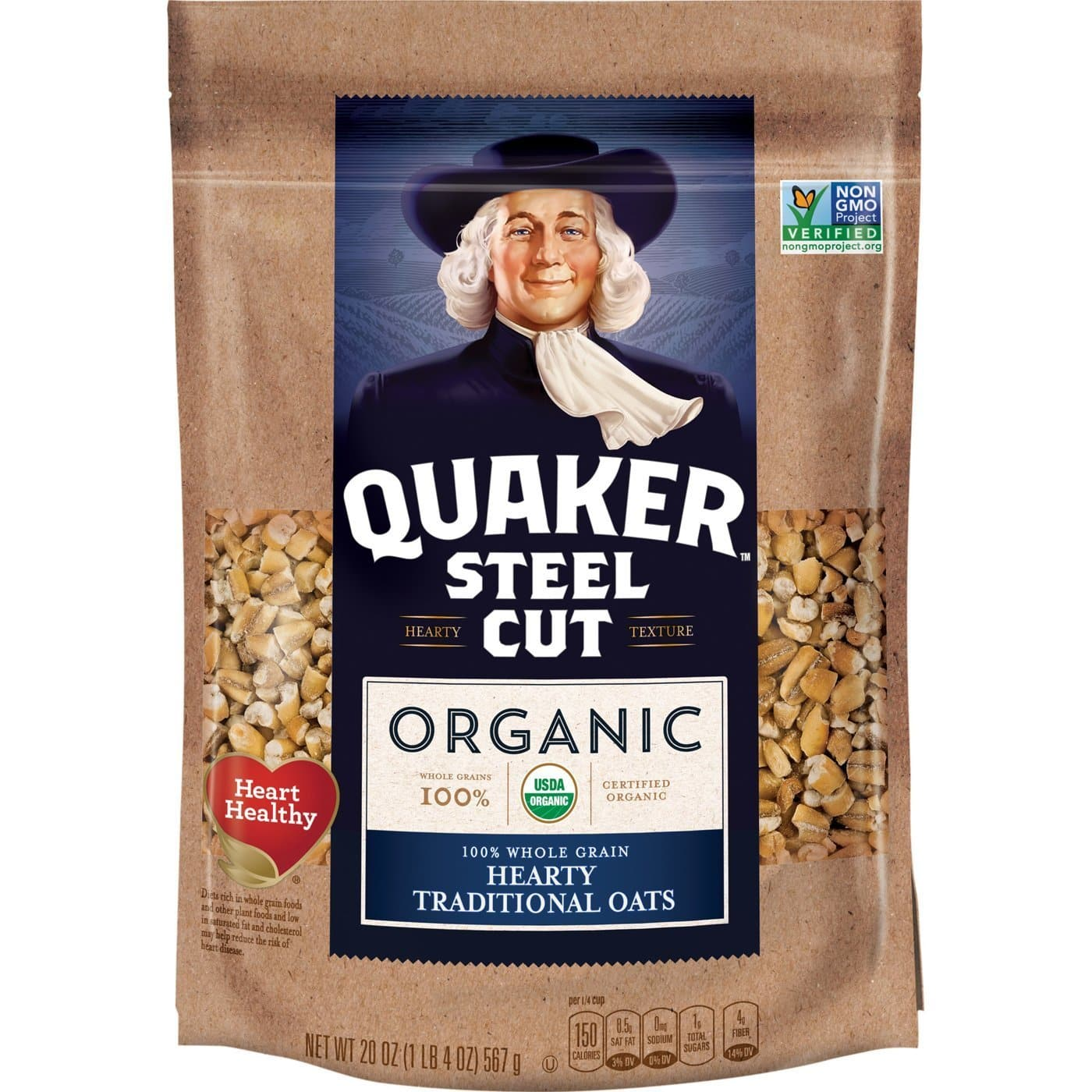 4-Pack 20-Oz Quaker Organic Steel Cut Oats $8.27 w/ S&S + Free Shipping w/ Prime or on $25+