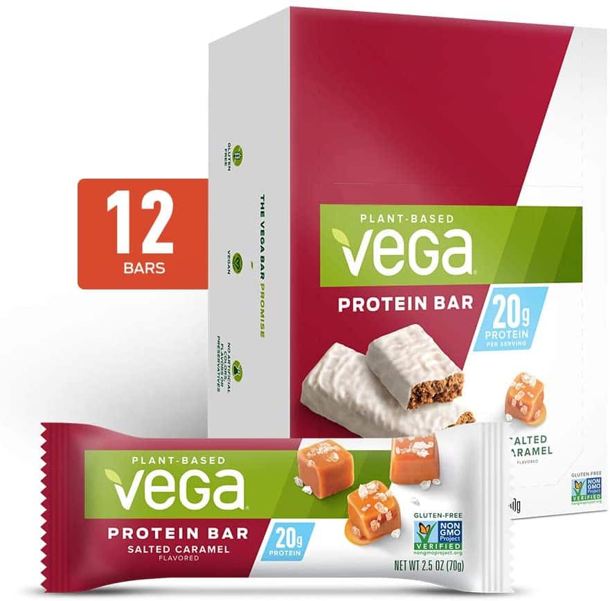 12-Count 2.5-Oz Vega 20g Protein Bar (Salted Caramel) $12.69 w/ S&S + Free Shipping w/ Prime or on $25+