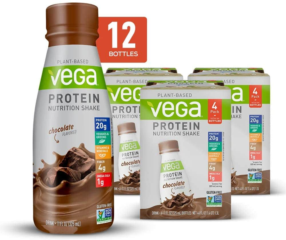 12-Count 11-Oz Vega Plant-Based Protein Nutrition Shake (Chocolate or Vanilla) $12.50 w/ S&S  + Free Shipping