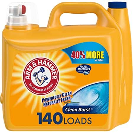 210-Oz Arm & Hammer Liquid Laundry Detergent (Clean Burst) $8.74 + Free Shipping w/ Prime or on $25+