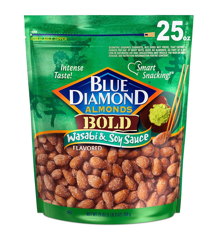 25-Oz Blue Diamond Almonds (Wasabi & Soy Sauce) $8.31 w/ S&S + Free Shipping w/ Prime or $25+