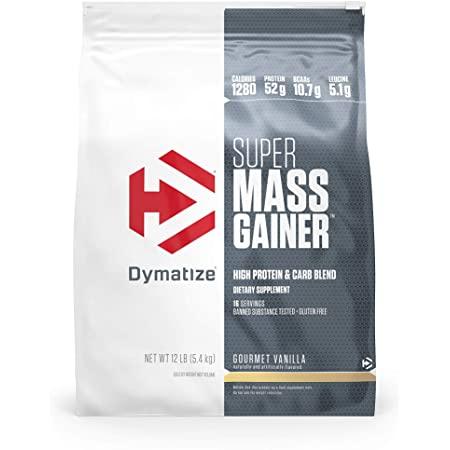12-Lb Dymatize Super Mass Gainer (Gourmet Vanilla) $29.49 w/ S&S + Free Shipping