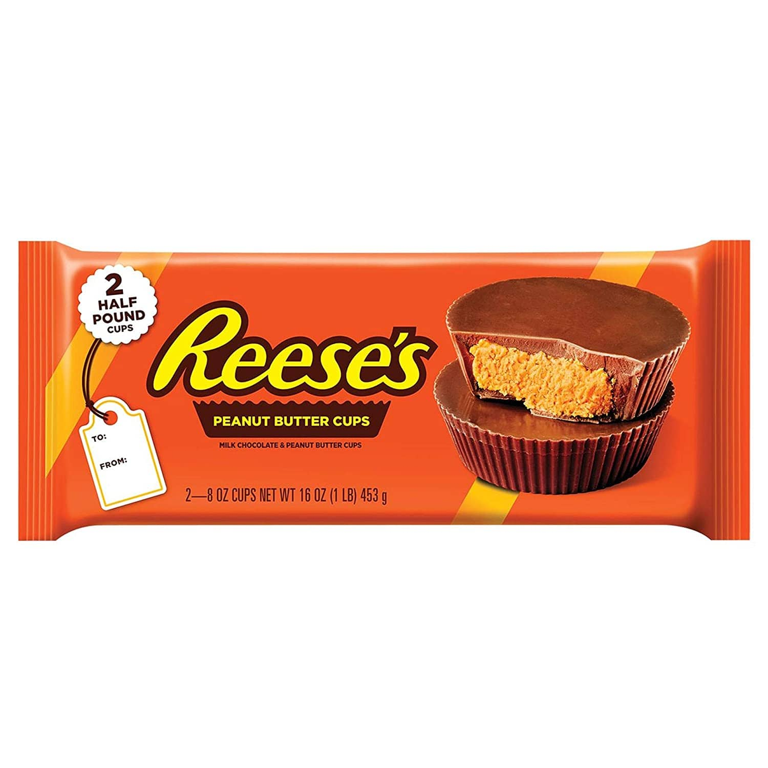 1-Lb Reese's Peanut Butter Giant Cups (2x 8oz) $4.12 & More + Free Shipping w/ Prime or on $25+