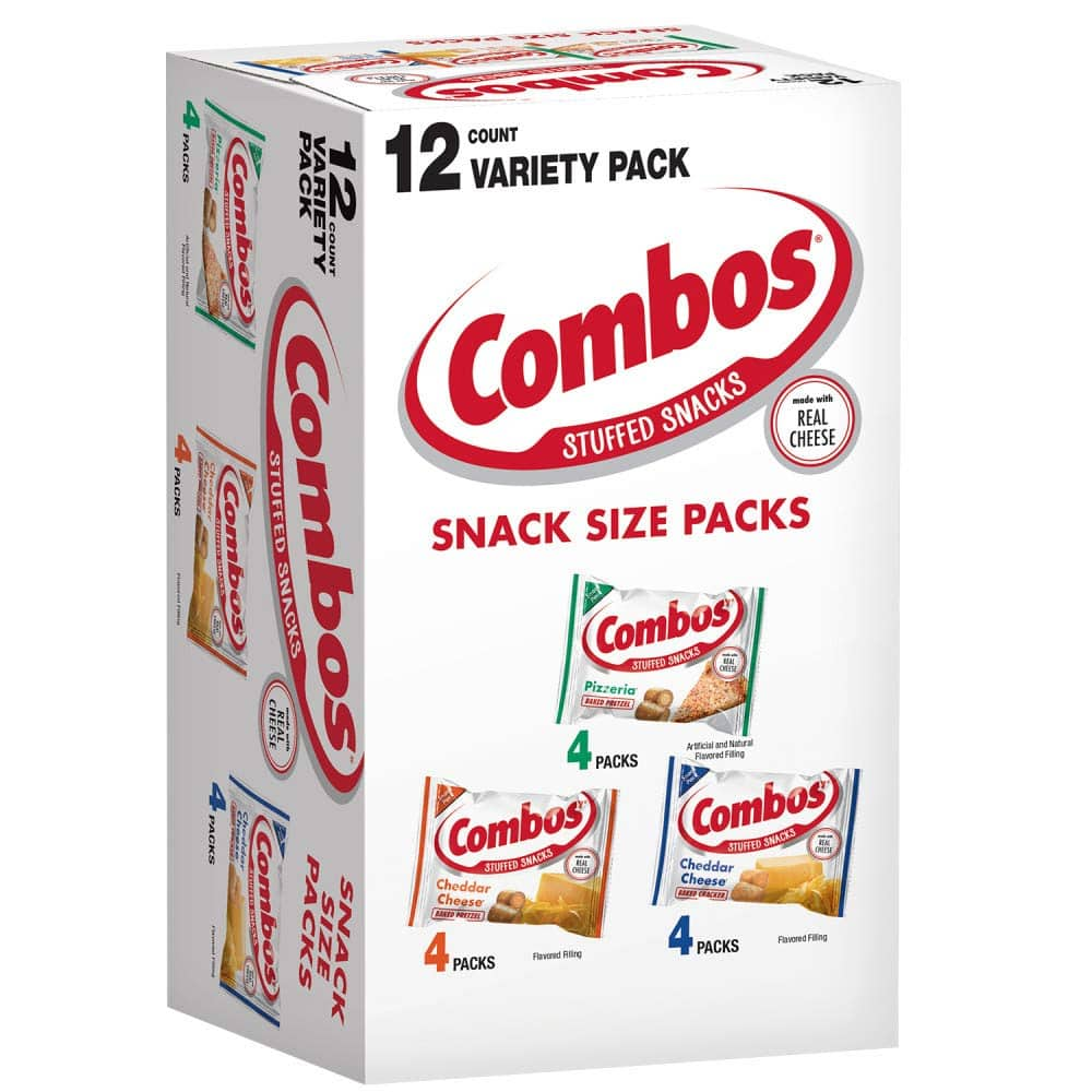 12-Pack 0.93-Oz Combos Baked Snack Size Packs (Variety Pack) $2.98 w/ S&S + Free Shipping w/ Prime or on $25+