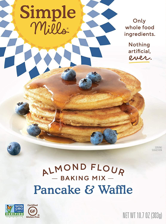 Amazon Warehouse: 10.7-Oz Simple Mills Almond Flour Gluten-Free Pancake & Waffle Mix $2.83 + Free Shipping w/ Prime or on $25+