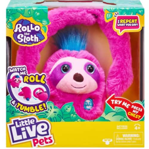 Little Live Pets Rollo The Sloth Toy w/ Bendable Arms, Movement, & Sounds $5 + 2.5% in Slickdeals Cashback (PC Req'd) + Free Store Pickup at Target or FS on $35+