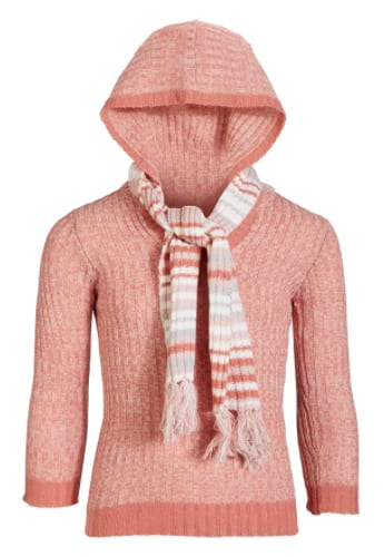 Kidtopia Girls' Sweater w/ Matching Scarf (2 colors) $7.13 + 6% Slickdeals Cashback (PC Req'd) + Free Store Pickup at Macy's or FS on $25+