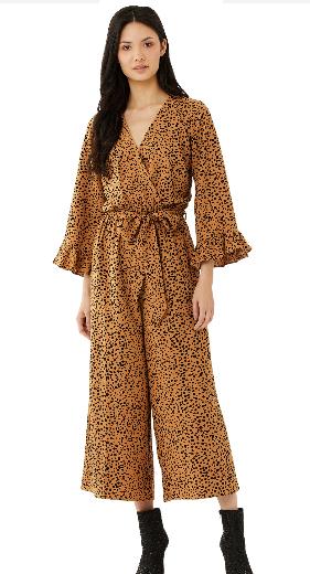 Scoop Women's Tie Front Jumpsuit with Ruffle Long Sleeves $11, Scoop Women's Ruffle Hem Blouse (various) $6 & More + FS w/ Walmart+ or FS on $35+