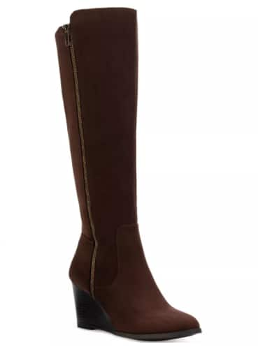 Style & Co. Women's Wynterr Wedge Dress Boots (Chocolate) $14.96 & More + 6% Slickdeals Cashback (PC Req'd) + Free Store Pickup at Macy's or FS on $25+