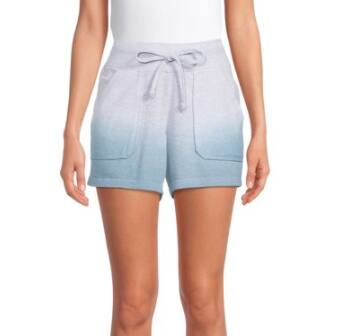 Silverwear Women's Active French Terry Ombre or Solid Shorts (various) $6.48 + FS w/ Walmart+ or FS on $35+