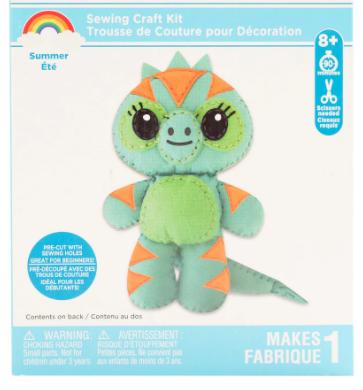 Creatology: Kids' Stuffed Plush Sewing Craft Kit (Dino, Fairy or Unicorn) $4, Kids' Needlepoint Craft Kit (various) $3 & More + Free Store Pickup at Michaels or FS on $59+